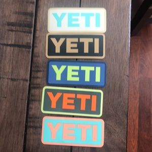 5 YETI logo Stickers